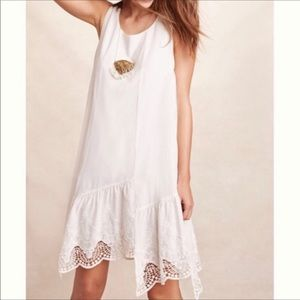 Anthropologie Broderick white lace dress small